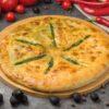 Хачапури с сыром сулугуни и шпинатом
